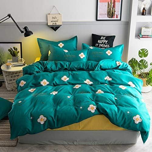 WAWA Sábanas de algodón para el hogar de algodón Aloe + Funda de ...