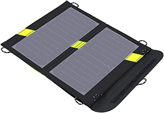 Solar Phone Charger 14W Solar Panel with Dual USB Port Portable