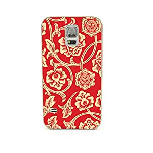 Euclid+ - Sunflower Obey Flower Embossed Design Gold Bumper Metal Frame Full Armor Protect Case Cover for Samsung Galaxy S5