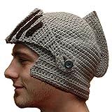 GTGJ Winter Hats Knit Caps Ears Warm Knight Helmet Woven Mask Windproof Men Women Kids
