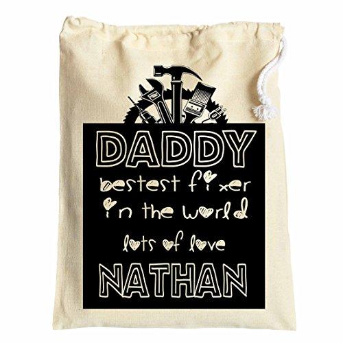 Large personalizzati, sacchetto regalo per papà on FATHER' S DAY Bestest Fixer 30cm x 40cm