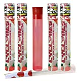vape cone - 4 Packs Cyclones Strawberry Flavored Pre Rolled Cones Clear with Beamer Smoke Doob Tube