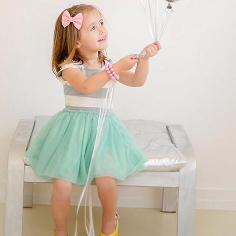 Webla Toddler Kids Baby Girls Summer Clothes Striped Dress Party Tulle  Stiching Dress: Amazon.co.uk: Clothing