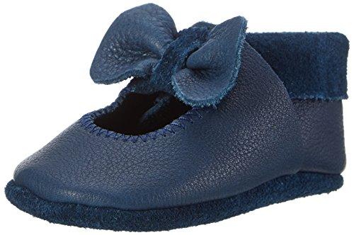 Pololo Unisex-Kinder Ballerina Krabbel-& Hausschuhe Blau (Tobago 716)