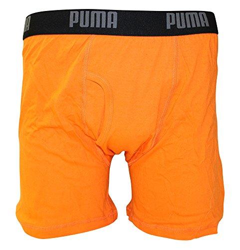 Puma Mens 3 Pack Tech Boxer Brief orange, grau, marineblau (Navy/Orange/Grey)