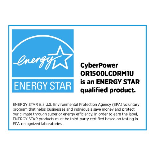 CyberPower OR1500LCDRM1U Smart App LCD UPS System, 1500VA/900W, 6 Outlets, AVR, 1U Rackmount by CyberPower (Image #5)
