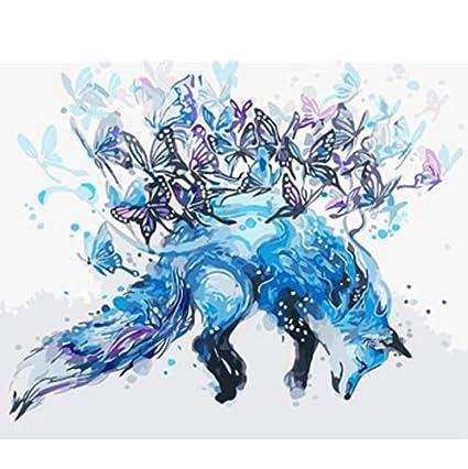 DIY Malen Wölfe Nach Zahlen Malerei Ölgemälde Geschenk Wandbild Leinwand Deko