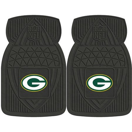 NFL 4-Piece Front #36572626 and Rear #19888890 Heavy-Duty Vinyl Car Mat Set, Green Bay Packers by Sports Licensing Solutions LLC