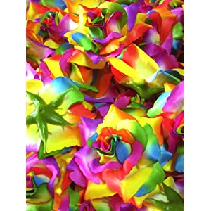 "(12) BIG Rainbow Silk Roses Flower Head - 3.75"" - Artificial Flowers Heads Fabric Floral Supplies Wholesale Lot for Wedding Flowers Accessories Make Bridal Hair Clips Headbands Dress 61"