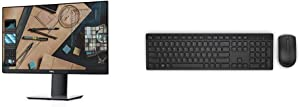 Dell P Series 23-Inch Screen LED-lit Monitor (P2319H), Black & KM636 Wireless Keyboard & Mouse Combo (5WH32), Black