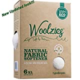 Woolzies, the Original Highest Quality Organic Wool Dryer Balls Set of 6 Xl ,Best Natural Fabric Softener, Gift Set (1 Pack, White)