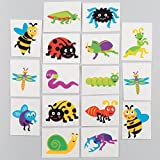 Bug Tattoos - Fun Spring Party Bag Filler Loot Gifts for Kids (Pack of 24)