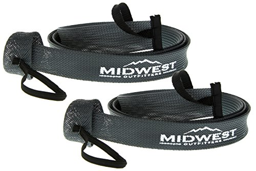 Baitcast Fishing Rod Sleeve Rod Sock Cover 2 Pack By Midwest Outfitters (Gray) (Tube Socks Case)