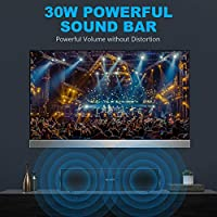 Sound Bar 30W Bluetooth Speaker 3D Stereo Surround Sound Bar Wired and Wireless Bluetooth Audio Stereo Speaker Home Party Theater TV Outdoor Portable Sound Bar for TV, PC, Cellphone, Tablets by Myvision