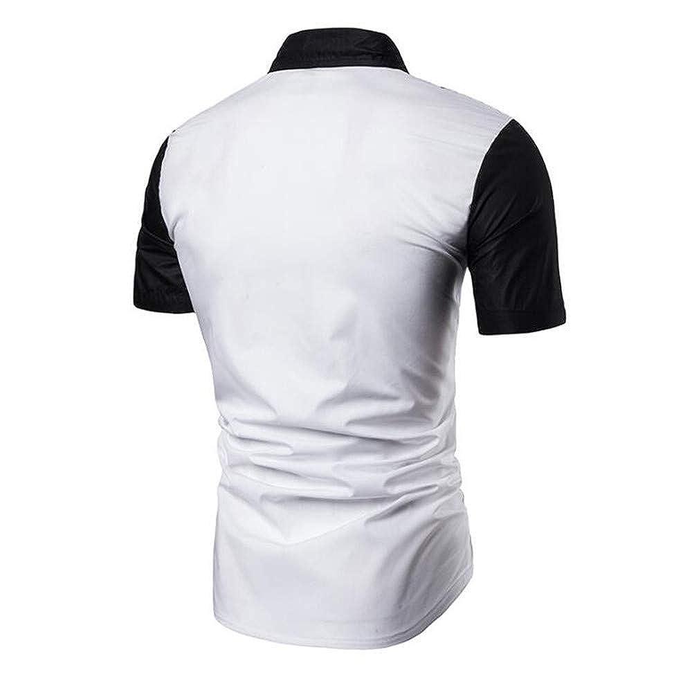 Mens Relaxed-Fit Short Sleeve Vintage Viscose Blend Casual Hawaiian Shirt