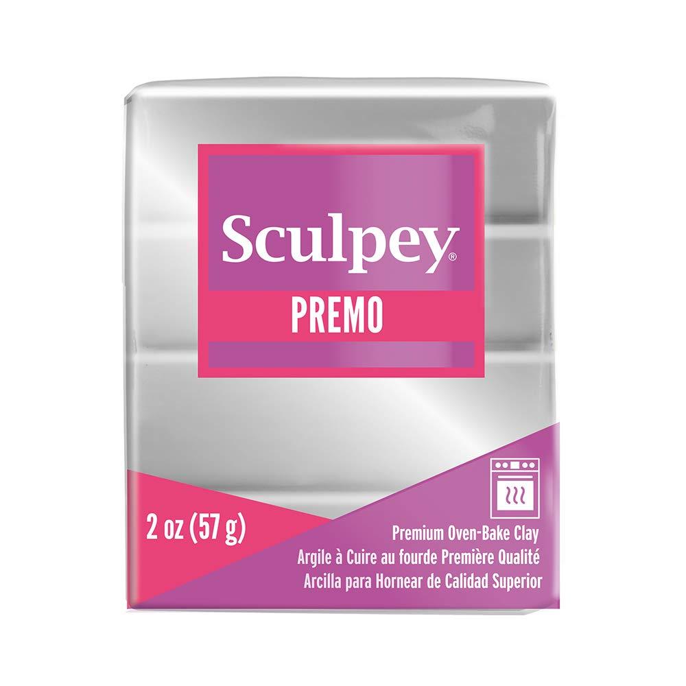 Premo Sculpey Polymer Clay 2 Ounces-Silver (PE02 5129)