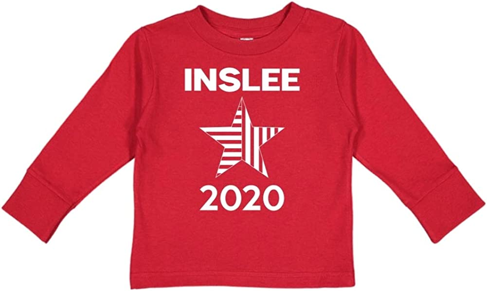Star Mashed Clothing Inslee 2020 Presidential Election 2020 Toddler//Kids Long Sleeve T-Shirt
