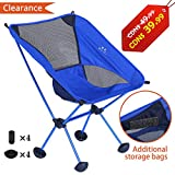 Camping Chairs, Fruiteam Ultralight Portable Picnic Camp Chair Outdoor Backpacking Folding Chairs Carry