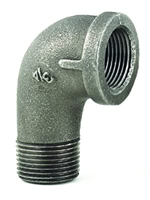 T&S Brass AG-8C-MF Gas Appliance Connectors with Elbow, 1/2-Inch