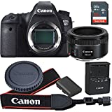 Canon EOS 6D 20.2 MP CMOS Digital SLR Camera with 3.0-Inch LCD With EF 50mm F/1.8 STM Lens - Wi-Fi Enabled (Certified Refurbished)