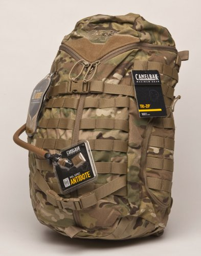 CamelBak 60912 TriZip Cargo and Hydration Pack, MultiCamouflage, Outdoor Stuffs