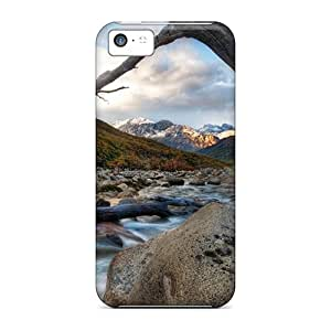 Awesome Special-G Defender Tpu Hard Case Cover For Iphone 5c- Mountain Stream Hdr