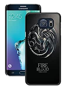 Beautiful Samsung Galaxy S6 Edge Plus Cover Case ,Newest And Durable Designed Case With Game Of Thrones Fire And Blood Targaryen House iPhone 5 Wallpaper Black Samsung Galaxy S6 Edge+ Case Unique And Cool Phone Case