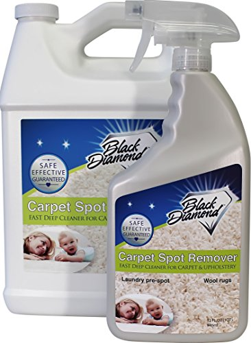Carpet & Upholstery Cleaner: Fast Acting Spot, Stain Remover Spray Works on Rugs, Couches and Car Seats. (4, Quart & Gallon) by Black Diamond Stoneworks