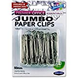 Premier Stationery H2749153 50 mm Jumbo Paper Clips (Pack of 50)