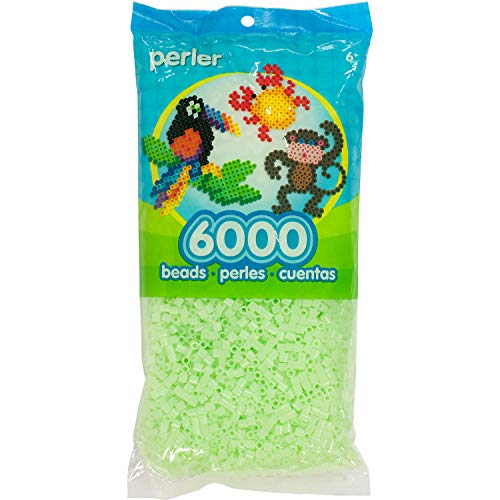 Perler Beads Fuse Beads for Crafts, 6000pcs, Glow in the Dark green -