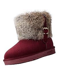 Fumx Women's Warm Winter Waterproof Outdoor Snow Boot