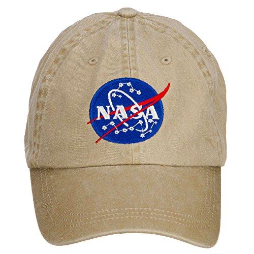e4Hats.com NASA Insignia Embroidered Washed Cap - Khaki OSFM