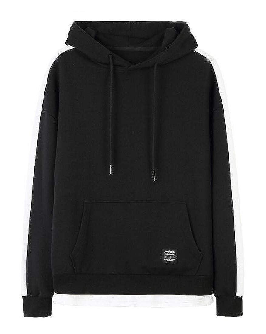Macondoo Mens Hooded Stylish Top Slim Pocket Drawstring Sweatshirts
