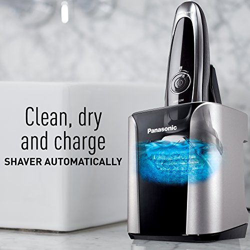 Panasonic ES-LV95-S Arc5 Electric Razor, Men's 5-Blade Cordless with Shave Sensor Technology and Wet/Dry Convenience, Premium Automatic Clean & Charge Station Included by Panasonic (Image #10)
