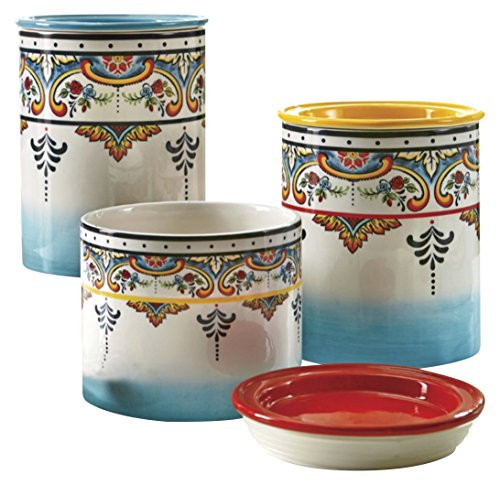 Euro Ceramica Collection Canisters Multicolor