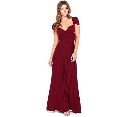 Infinity Kleid, Ballkleid, Brautjungfernkleid, Gr. 34-42 dunkelrot ...