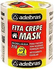Fita Crepe, Adelbras 0615000005, Multicor, Pacote de 6