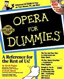 img - for Opera for Dummies (Book and Audio CD) PAP/COM Edition by David Pogue, Scott Speck [1997] book / textbook / text book