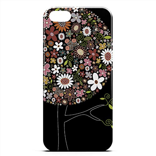 Whimsical Spring - Beetle CASE Compatible with iPhone 5/5S/SE Case Whimsical Colorful Spring Flowers Pop Tree Nature Unique Pattern Design Slim Fit Shell Hard Plastic Full Protective Anti-Scratch Resistant Cover