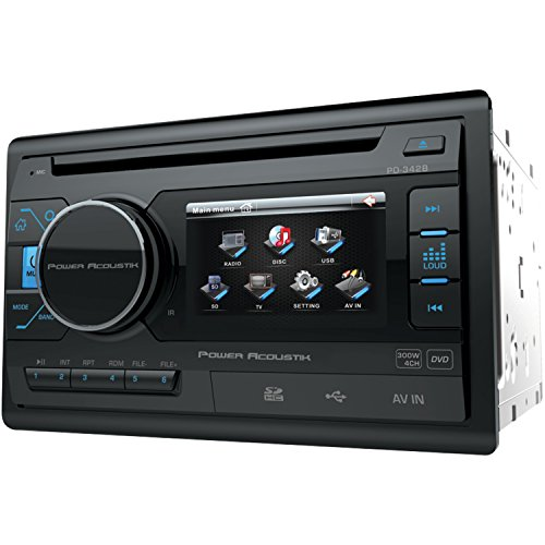 Power Acoustik PD 342 3.4'' Double-DIN In-Dash LCD Touchscreen DVD Receiver without Bluetooth by Power Acoustik