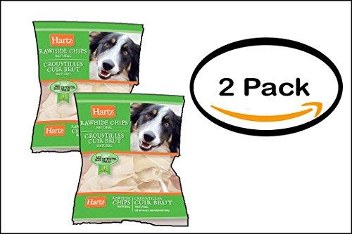 Hartz Rawhide Chips (PACK OF 2 - Hartz 81271 1 lb Dental Rawhide Chips)