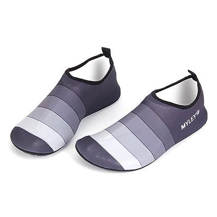 HYSENM Unisex Strandschuhe Barfußschuhe Lycra biegsam leicht für Schwimmen Strand Yoga Hausschuhe Sport- & Outdoorschuhe