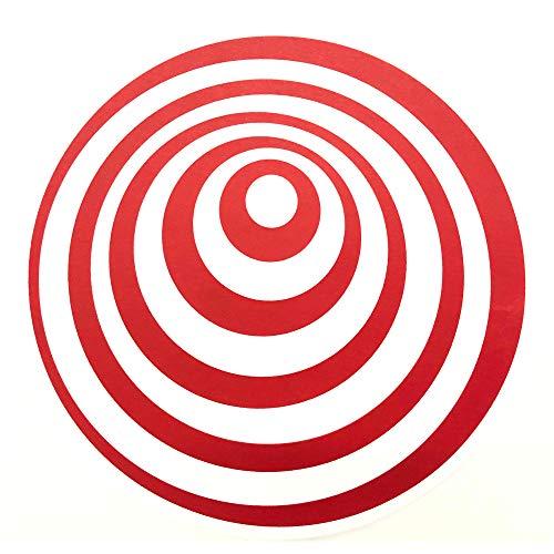(Thud Rumble ButterRug Slipmats Red Twilight Zone Swirl Design Butter Rug Pair)
