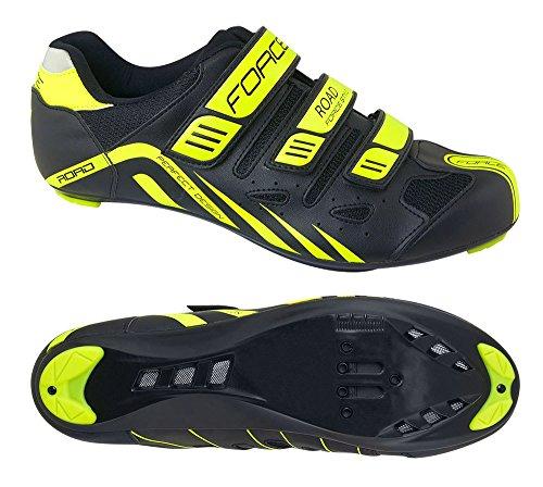 fluo de EU Chaussures fluo nbsp;– velcro jaune cyclisme nero nbsp;Noir 40 à Force Noir giallo EU 86dqw6
