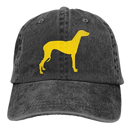 Greyhound Dog Men/Women Washed Adjustable Baseball Cap Denim Back Closure Plain Caps