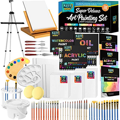 Art Supplies Set, Painting Supplies and Painting Accessories Painting Kits for Adults. Acrylic Paint, Watercolor Paint…