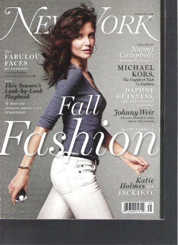New York Magazine (Fall Fashion and Katie Holmes as jackie O, August 23 ()
