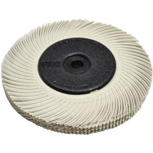 GHP 3M White 6'' Diameter 120 Grit 3-Radial Bristle Discs
