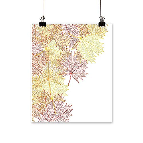 painting-home Canvas Prints Wall Art Pattern with Maple Tree Fall Leaves Skeleton Dried Golden Forms Halloween Decor Artwork for Wall Decor,32