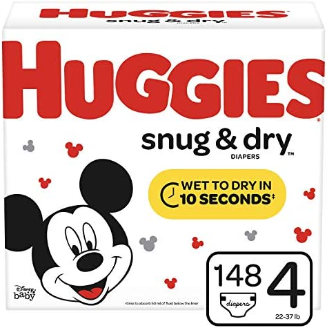 Huggies Diapers 22 37 Count Packaging